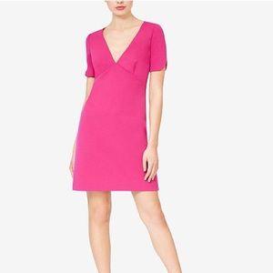 Betsey Johnson pink scuba crepe dress NWT 14